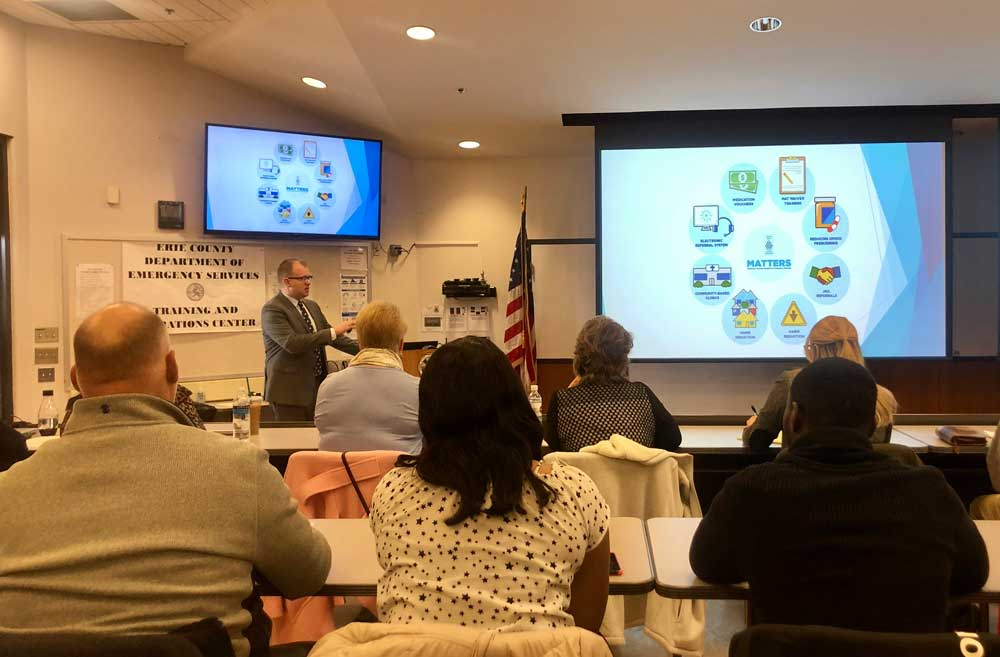 Buffalo MATTERS presents at Erie County Opioid Task Force meeting